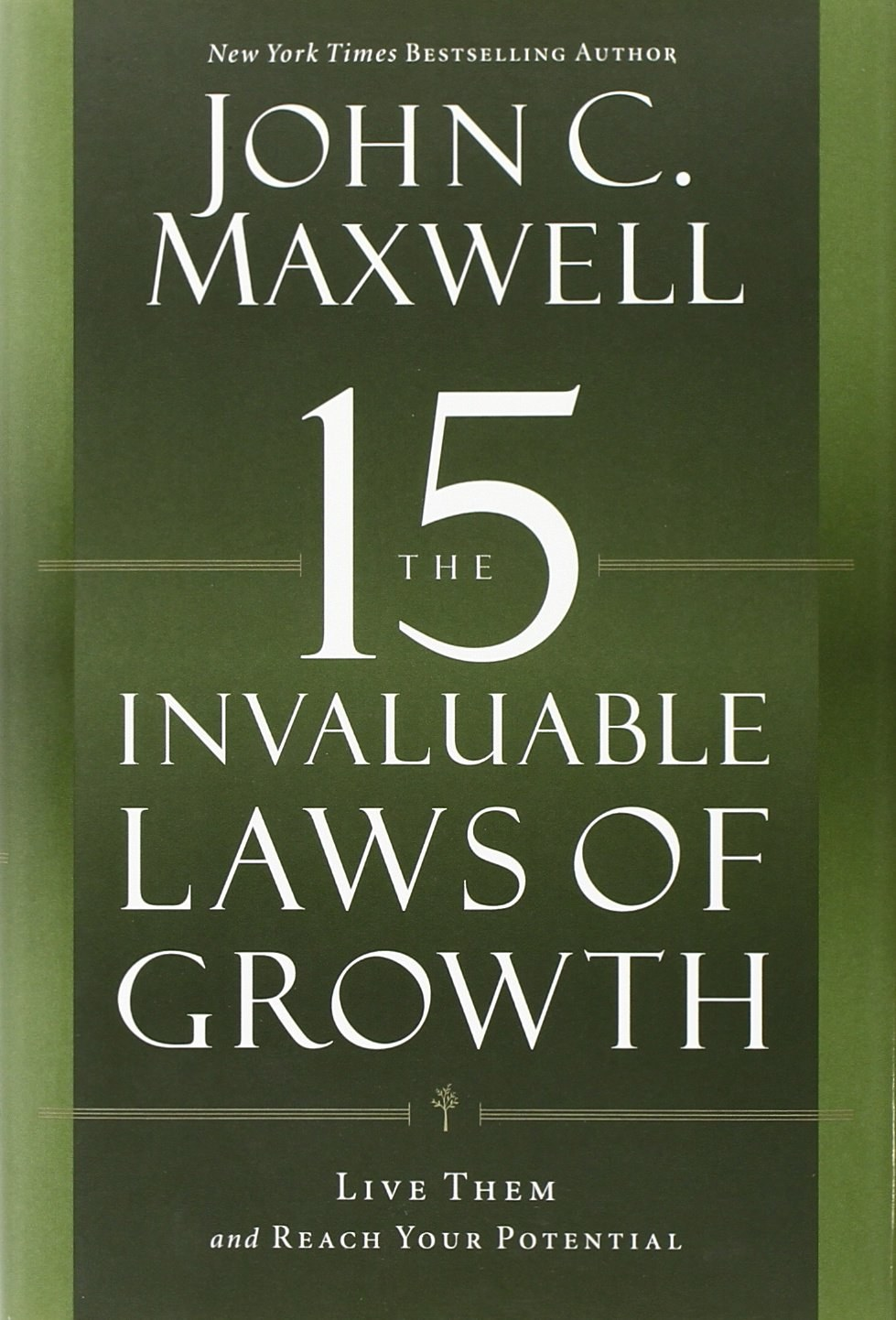 Book cover for The 15 Invaluable Laws of Growth